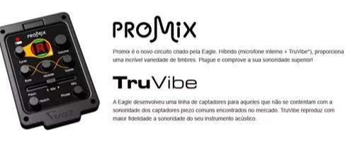 Violao Eagle Ch889 Aço Folk El.6control.cut.afin. Natural