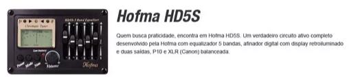 Violao Hofma Hma260 Aço Semifolk Elet.6control.cut.afin. Br
