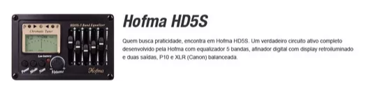 Violao Hofma Hma260 Aço Semifolk Elet.6control.cut.afin. Pr