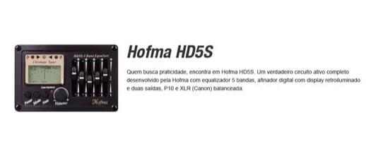 Violao Hofma Hma260 Aço Semifolk Elet.6control.cut.afin. Ve