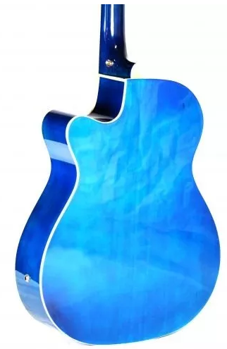 Violao Jahnke Jved012 Bl Aço Semifolk Elet.6control Cut.afi Azul