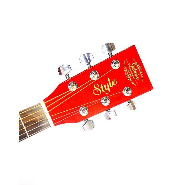 Violão Jahnke JVED012 Rd Aço Semifolk Elétrico 6 Controles Cutway Afinador Vermelho