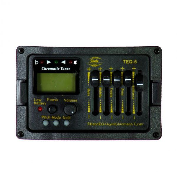 Violão Jahnke JVED014 Bks Aço Semifolk Elétrico 6 Controles Cutway Afinador Preto Tran.
