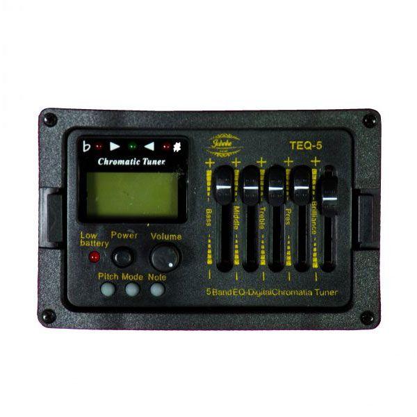 Violão Jahnke JVEF002 Bk Aço Folk Elétrico 6 Controles  Cutway Afinador Preto