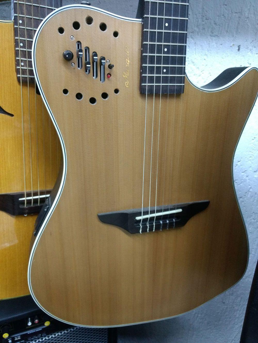 Violao Marques Nf215/vn12q7545 S/boca Nylon Clas.elet.4contr