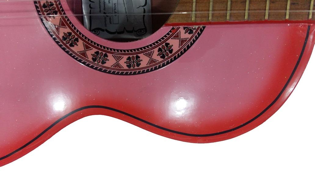Violão Passion Nylon Infantil Acustico Rosa