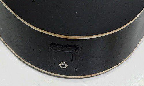 Violão Tonante TGE300BK Aço Classico Eletrico Cutaway Preto