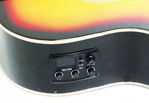 Violão Tonante TGE300SB Aço Classico Eletrico Cutaway Sumburst