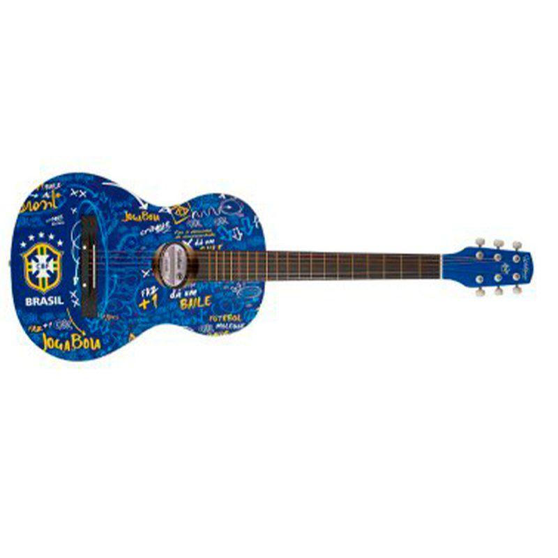 Violão Waldman ACU2CBF Time Seleção Brasileira Aço Clássico Acústico Azul