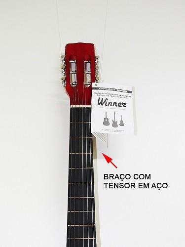 Violão Winner 11105 Nylon Classico Acustico Natural