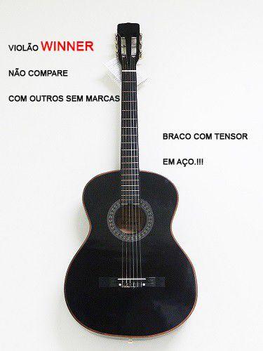 Violão Winner 11106 Nylon Classico Acustico Preto