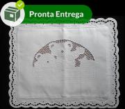 ALMOFADA BORDADO EM RICHELIEU - URSINHO - (40X30CM)-(1 unid.)
