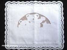 Almofada Bordado Richelieu 1 Peça 100% Algodão 40x30 cm Ursinho