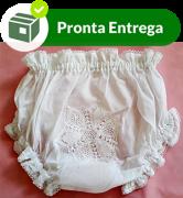 CALCINHA COM RENDA RENASCENÇA - FLOR - BRANCO - P/M/G