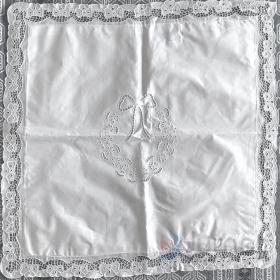 Capa de Almofada Avulsa 60x60 Bordado Richelieu Percal 230 Fios Flor Menina
