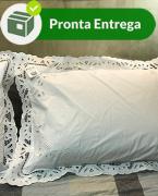 FRONHA BORDADO EM RICHELIEU FLORAL 50X70CM (1 PAR.)