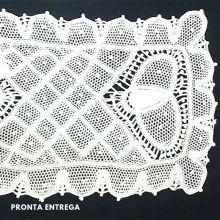 Pano de Bandeja em Renda Renascença Feito a Mão 26x15 cm
