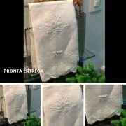 Conjunto Toalha de Lavabo com Renda Renascença (30x50 cm)