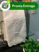 Conjunto Toalha Lavabo com Renda Renascença (30x50 cm)