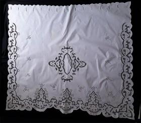 Cortina Bordado Richelieu 1,50x1,50 (LxA) Percal 230 Fios 1 Folha Clarissa
