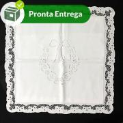 CAPA DE ALMOFADA BORDADO RICHELIEU - FLOR DE MENINA 50X50CM (1 UNID.)