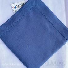 Guardanapo 40x40 Bainha Ponto Ajour no 100% Linho Azul Pretório