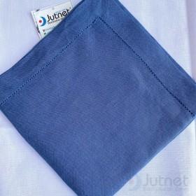 Guardanapo 40x40 Bainha Ponto Ajour 100% Linho Azul Pretório