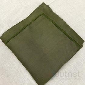 Guardanapo 40x40 Ponto Cheio 100% Linho Verde Musgo