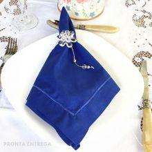 Guardanapo Bainha Ponto Cheio Percal 230 Fios 50x50 Azul Royal