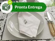 Guardanapo Bainha Ponto Cheio 100% Algodão Branco 50x50 (4 unid.)