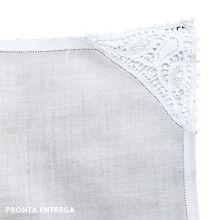 Guardanapo com Renda Renascença 40x40 100% Linho