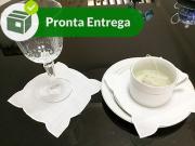 PORTA COPO E XÍCARA  PONTO CHEIO LINHO RAMI - BRANCO (6 UNID.)