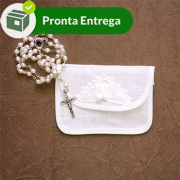 Kit Porta Terço ou Jóia Renda Renascença (5 unid.)