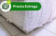 SAIA PARA CAMA BOX QUEEN-BORDADO RICHELIEU-PATROCÍNIA