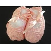 Sapatinho Renda Renascença Rosa Bebê 11/12 cm