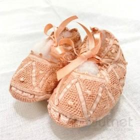 Sapatinho Renda Renascença Rosa Bebê 9/10 cm