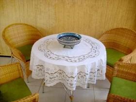 Toalha de Mesa Bordado Richelieu 1,90m Percal 230 Fios Patrocínia