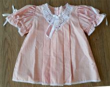 Vestido Pala e Poá com Renda Renascença Rosa RN a 3 m