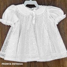 Vestido em Renda Paraíba veste 3 à 6 meses