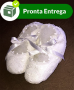 Sapatinho em Renda Renascença Branco 09/10 cm