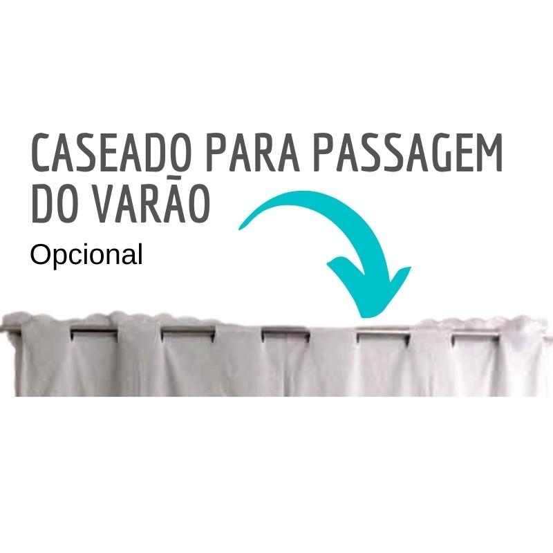 Bandô Bordado Richelieu 2,0x0,60m (LxA) Percal 230 Fios 1 Folha Clarissa  - Bordados do Ceará - Jutnet