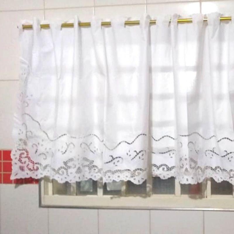 Bandô Bordado Richelieu 2,90x0,90m (LXA) Percal 230 Fios Miudinho 1 Folha  - Bordados do Ceará - Jutnet