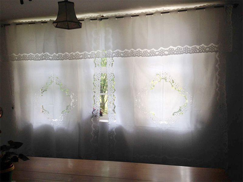 Bandô Bordado Richelieu Percal 230 Fios 2,60x0,50m (LxA) 1 Folha Margarida  - Bordados do Ceará - Jutnet