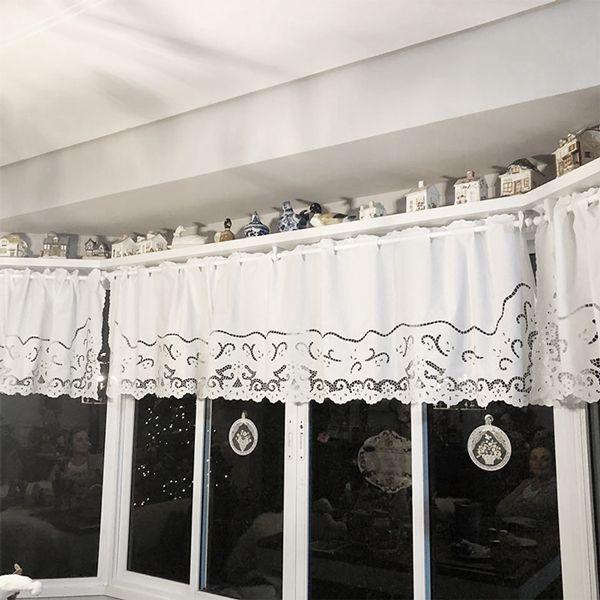 Bandô Bordado Richelieu 1,80x0,60m (LxA) Percal 230 Fios 1 Folha Miudinho  - Bordados do Ceará - Jutnet