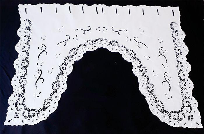 BANDÔ XALE BORDADO RICHELIEU - MIUDINHO (80 x 30 x 80 CM)-(01 FOLHA)  - Bordados do Ceará - Jutnet