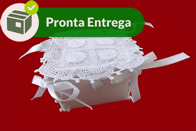 Kit Caixinha Renda Renascença com 5 unidades  - Bordados do Ceará - Jutnet