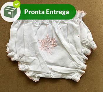 CALCINHA COM BORDADO CHEIO - ROSA BEBÊ - P/M/G  - Bordados do Ceará - Jutnet