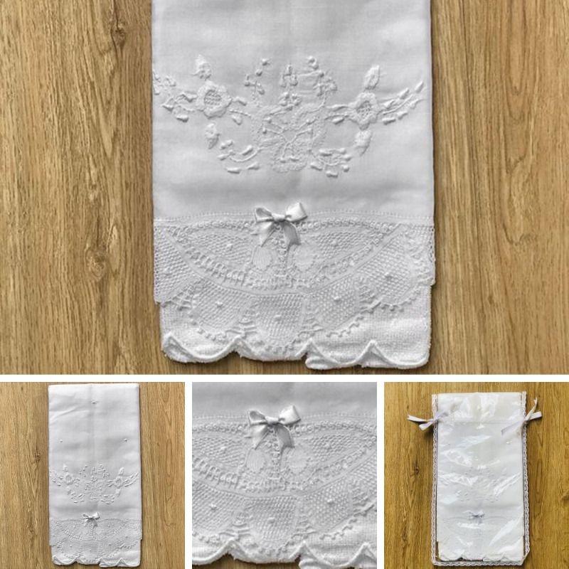 Conjunto Toalha de Lavabo Renda Renascença Grande (40x70 cm)  - Bordados do Ceará - Jutnet