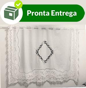 CORTINA BORDADO RICHELIEU - MIUDINHO (1,70 X 2,40M)-(01 FOLHA)  - Bordados do Ceará - Jutnet