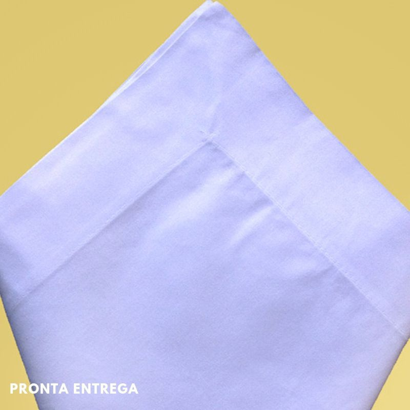 Guardanapo com Bainha Percal 230 Fios 50x50 Branco  - Bordados do Ceará - Jutnet